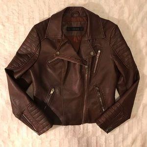 Like New {Zara} Vegan Leather Moto Jacket